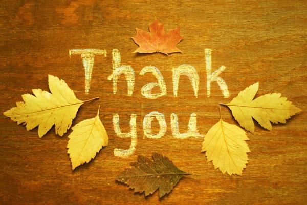 Giving thanks with an attitude of gratitude!